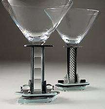 Jazz Martini by George Ponzini (Art Glass Stemware)