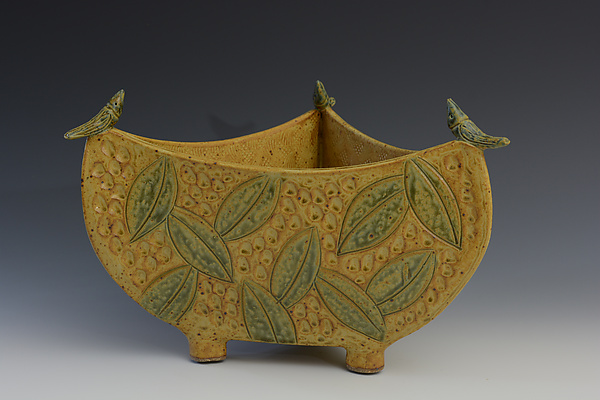 3 Sided Bowl with Birds