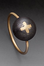 Cross Ring by Peg Fetter (Gold & Steel Ring)