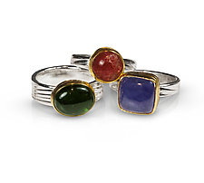 Wavelength Rings by Nancy Troske (Silver & Stone Ring)