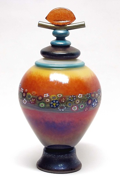 Lidded Mango Vines Vessel