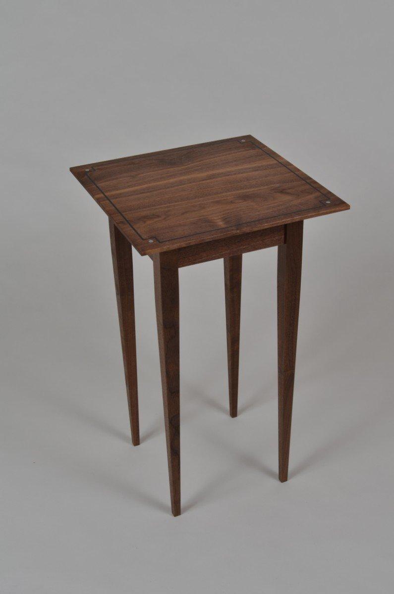 Walnut Side Table I by Karel Aelterman (Wood Side Table)