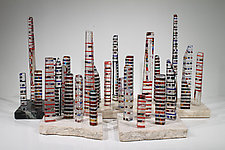 Cityscape #1 by Jim Vollmer (Art Glass Sculpture)