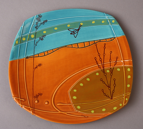 Small Deco Plate in Orange
