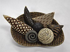 Oblong Bowl with Rattles by Kelly Jean Ohl (Ceramic Sculpture)