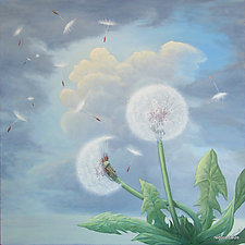If Dandelions Ruled... by T.W. Wolff (Giclee Print)