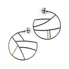 Gold Shape Hoops by Kendra Renee (Gold & Silver Earrings)