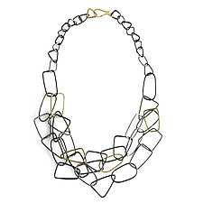 Gold Shape Statement Necklace by Kendra Renee (Gold & Silver Necklace)