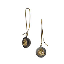 Erosion Drops with Diamonds by Jenny Reeves (Gold, Silver & Stone Earrings)