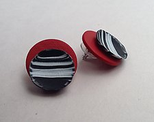 Sabrina Earring in Red by Klara Borbas (Polymer Clay Earrings)