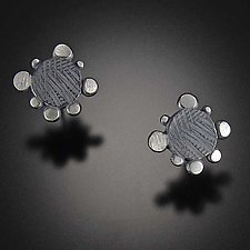 Disco Edge Stud by Dahlia Kanner (Silver Earrings)