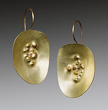 Dimple Earrings by Peg Fetter (Gold Earrings)