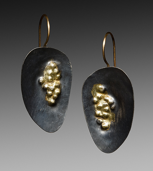 Oxidized Dimple Earrings