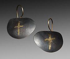 Cross Earrings by Peg Fetter (Gold & Silver Earrings)