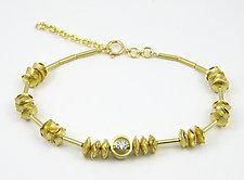Rolling Bracelet with Diamond by Junko Nakazawa (Gold & Stone Bracelet)