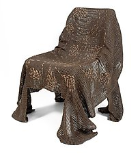 Embroidered Natural Specter by Josh Urso (Fiber Chair)