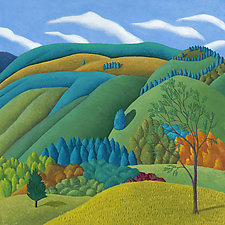 Fields & Mountains by Jane Troup (Giclee Print)