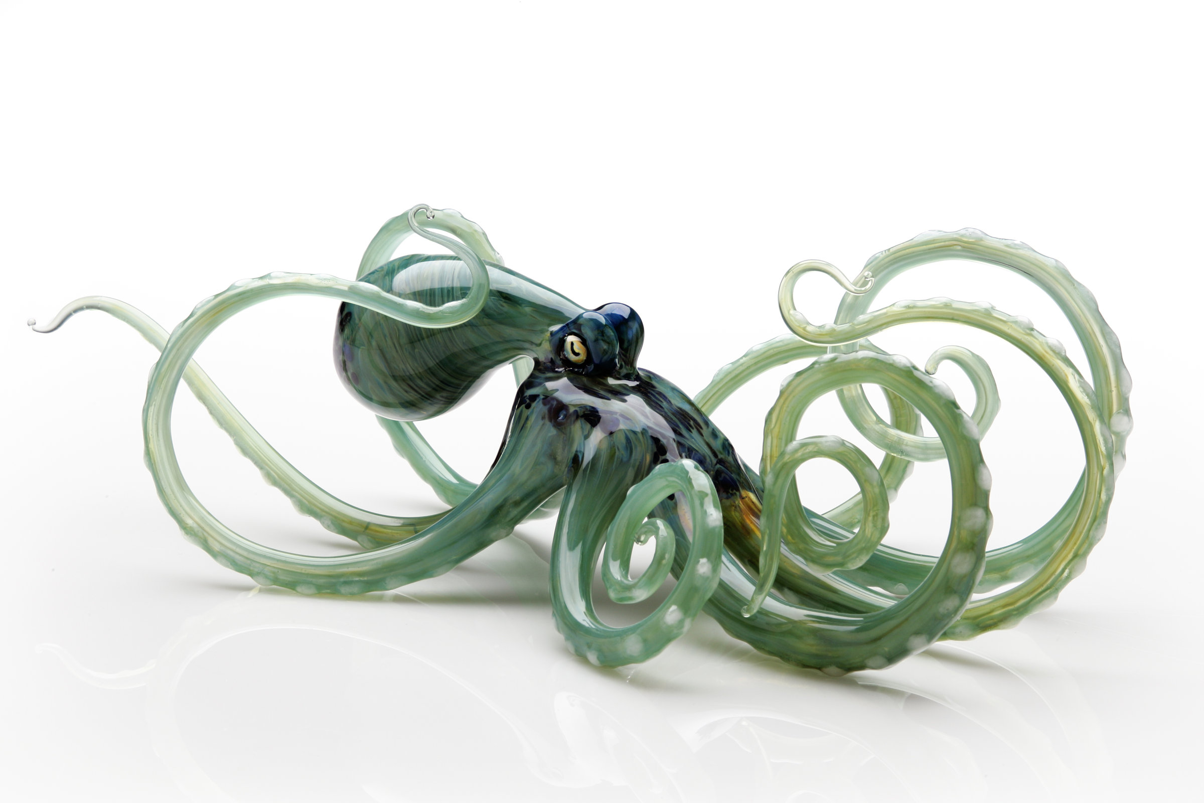 Octopus In Seagreen By Jennifer Caldwell And Jason