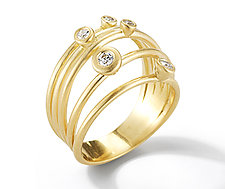Cono Spring Ring by Dana Melnick (Gold & Stone Ring)