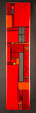 Windows Red - Wall by Vicky Kokolski and Meg Branzetti (Art Glass Wall Sculpture)