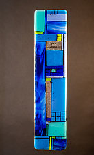 Windows Blue - Wall by Vicky Kokolski and Meg Branzetti (Art Glass Sculpture)