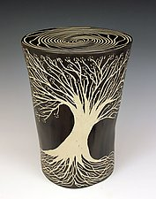 Round Tree Table by Larry Halvorsen (Ceramic Side Table)
