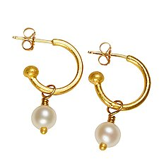 Classic Gold Hoops by Nancy Troske (Gold & Stone Earrings)