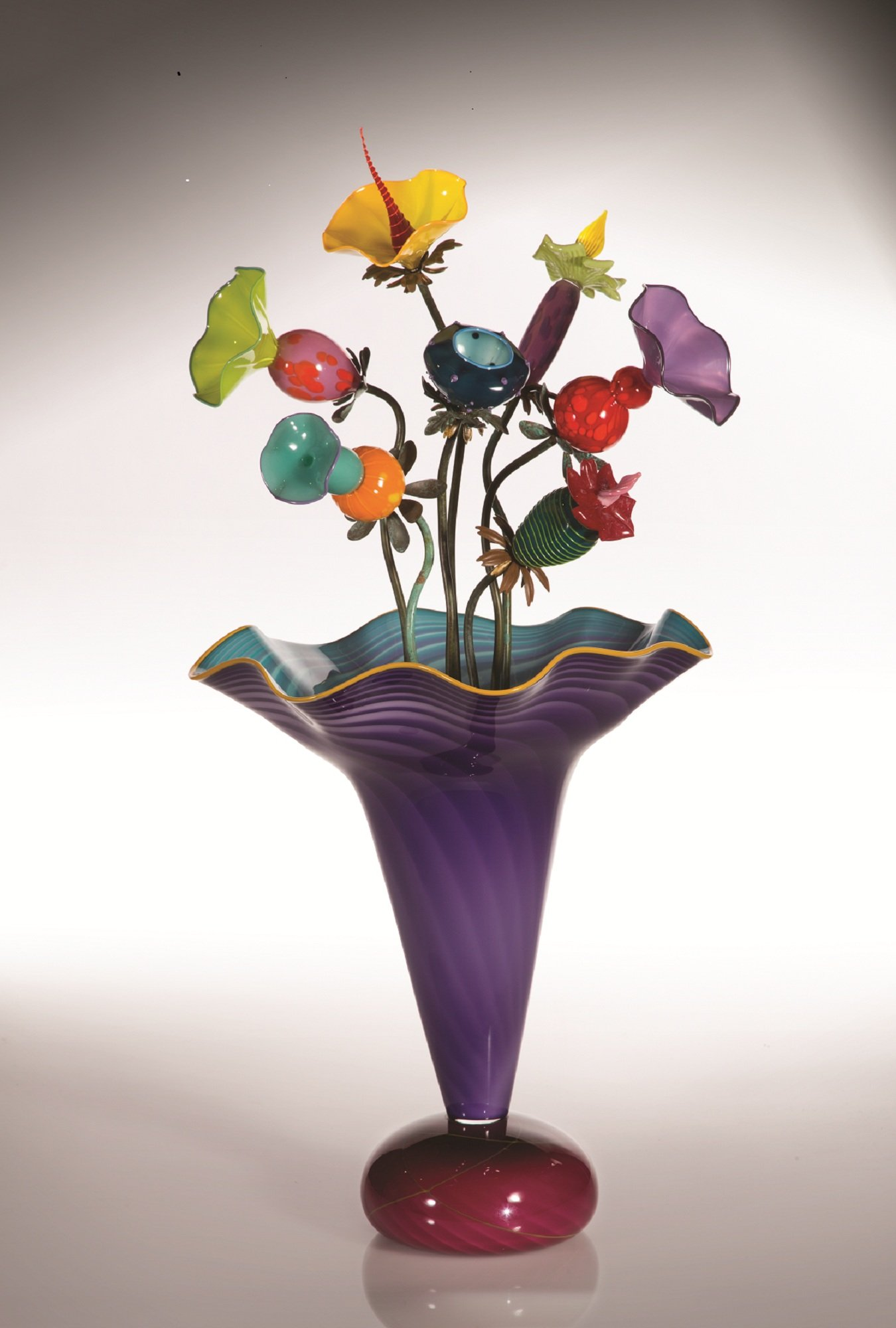 Amazon Vase by Bob Kliss and Laurie Kliss (Art Glass Sculpture)  Artful Home