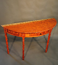 Half Oval Console Table by John Wesley Williams (Wood Console Table)