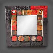 Red Mirror by Rhonda Cearlock (Ceramic Mirror)