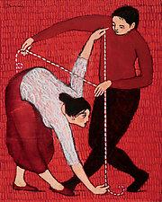 The Measuring by Brian Kershisnik (Giclee Print)