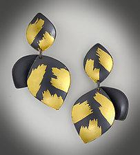 Lotus Dangle Earrings by Judith Neugebauer (Gold & Silver Earrings)