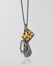 Charm Necklace 5 by Lori Gottlieb (Gold & Silver Necklace)