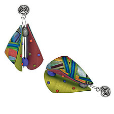 Wings Multi 2 Earrings by Arden Bardol (Polymer Clay Earrings)