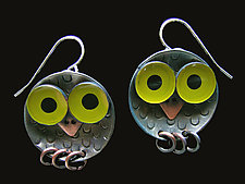 Owlet Earrings by Lisa and Scott  Cylinder (Metal Earrings)