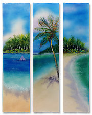 Ocean View Stix by Anne Nye (Art Glass Wall Sculpture)