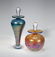 Luster Perfume Bottle by Tom Stoenner (Art Glass Perfume Bottle)