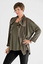 Perforated Drawstring Jacket by Planet   (Microfiber Jacket)