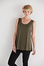 Matte Jersey Shirt Tail Tank by Planet   (Knit Tank)