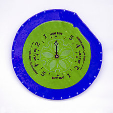 Tide Clock by Gregg Mesmer and Diane Bonciolini (Art Glass Clock)