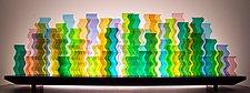 Celebrate by Bernie Huebner and Lucie Boucher (Art Glass Sculpture)