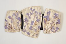 My Purple Garden by Kristi Sloniger (Ceramic Wall Sculpture)