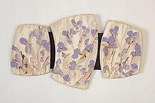 My Purple Garden by Kristi Sloniger (Ceramic Wall Sculpture)
