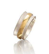 Men's Orbit Ring by Gabriel Ofiesh (Gold & Silver Ring)