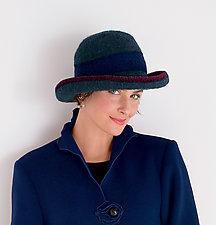 Striped Brim Hat by Tess McGuire  (Felt Hat)