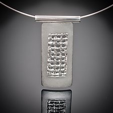 Slim Mesh Pendant by Karen Klinefelter (Silver Necklace)