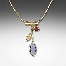 Iolite Petal Necklace by Suzanne Q Evon (Gold & Stone Necklace)