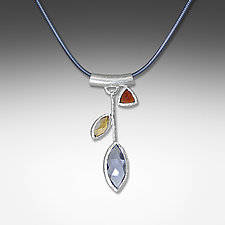 Iolite Petal Necklace by Suzanne Q Evon (Silver & Stone Necklace)