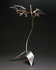 Organics in Motion B by Charles McBride White (Metal Sculpture)