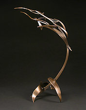 Organics in Motion C by Charles McBride White (Metal Sculpture)